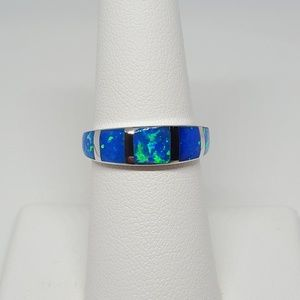 Jewelry - Sterling Silver Blue Ring
